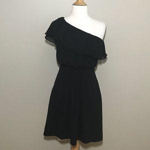 White House Black Market Black One Shoulder Dress